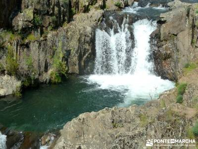 Cascadas del Aljibe; parques naturales en madrid; viajes camino de santiago;senderismo manzanares el